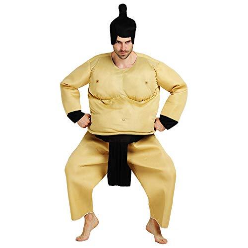 fangfaner - Disfraz de Hércules Gruesa, no Inflable para Halloween, Traje de Sumo japonés, Gordo Luchador Sumo