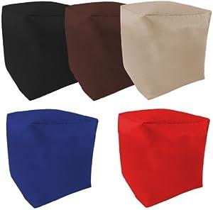 Ready Steady Bed Kinder Erwachsene Gemischt 5Pack gefüllt Sitzsack Cube. Set beinhaltet: Schwarz, Rot, Blau, Stone, Braun. Hergestellt aus Hochwertiges Wasserabweisendes Material.