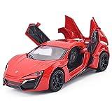 PETRLOY Los primeros bebé juguetes educativos de coches, 1: Tire 32 Escala Rojo tira del mini vehículo de juegos for niños de las muchachas de los niños, Fricción atrás y vehículos de la construcción