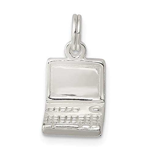 925 Sterling Silver Laptop Pendant Charm Necklace Household Fine Jewellery For Women Gifts For Her