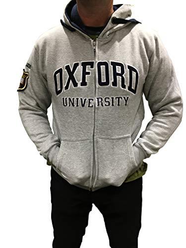 University of Oxford Sudadera con Capucha y Cierre, Licencia Oficial, Gris, Medium – 44″ / 112cm Chest