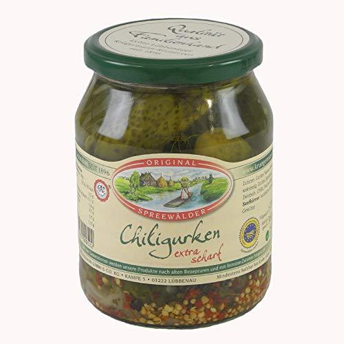 Krügermanns Original Spreewälder Chiligurken (720 ml Glas)