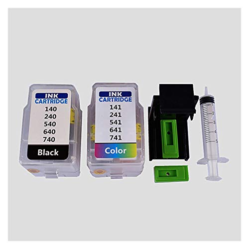 Tinta de impresora Kit de rifle de cartucho inteligente para Canon PG 540 CL 541 Cartucho para Canon Pixma MG4250 MX375 MX395 MX435 MX455 MX515 MX525 productos de oficina ( Color : Black and Color )
