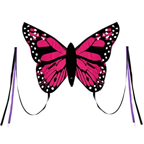 Wolkenstürmer Bella Butterfly Pink Lenkdrachen für Kinder - 1-Leiner Kinderdrachen mit Gestänge