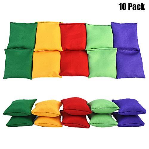 Sarplle 10 Pcs Nylon Bean Bags Bean Bag Mini Enfants Lancer Jeu Jeu Bean Bag pour Jouer & Formation Carnaval Jouets pour Lancer Jeu