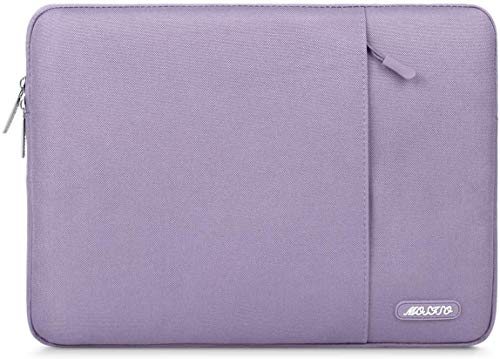 MOSISO Tablet Sleeve Case Compatible with 2020 10.9 iPad Air 4, 10.2 inch iPad 2020 2019, iPad Pro 11, 10.5 iPad Air 3, 10.5 iPad Pro, 9.7 iPad, Surface Go, Polyester Vertical Pocket Bag, Light Violet
