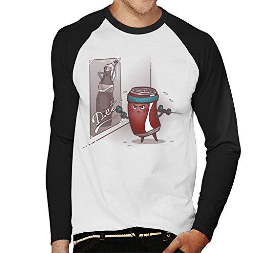 Cloud City 7 Diet Cola Exercise Men's Baseball Long Sleeved T-Shirt
