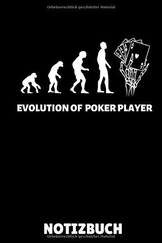 EVOLUTION OF POKER PLAYER NOTIZBUCH: A5 Notizbuch LINIERT Poker Buch | Kartenspiele | Kartenspiel | Geschenkbuch für ein Poker Set | Poker lernen | Anfänger | Geschenk für Erwachsene