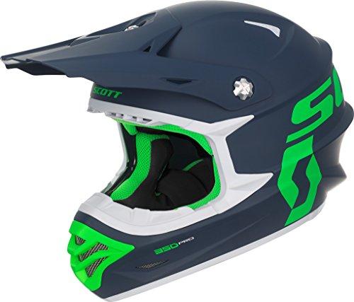 Scott 350 Pro MX Enduro Motorrad/Bike Helm blau/grün 2017: Größe: M (57-58cm)