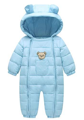 Maeau Bebé Niño Traje de Nieve con Capucha Niña Niño Ropa de Nieve para Bebé Mono de Nieve Bebé Niño Mameluco Invierno 3-9 Meses