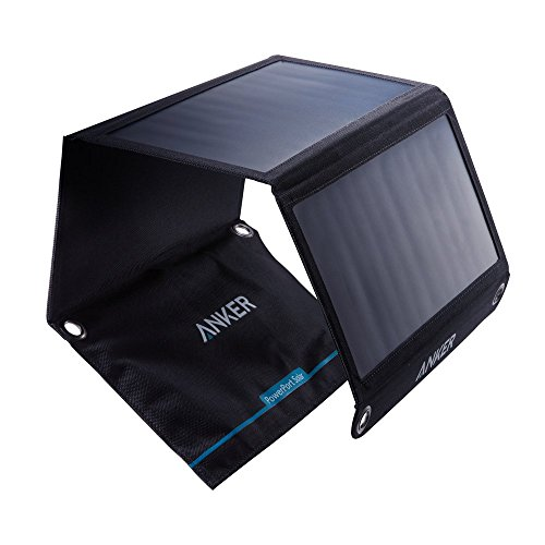 Solar Panel, Anker 21W 2-Port USB Portable Solar Charger with Foldable...