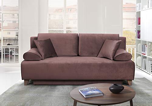 Möbel für Dich Schlafsofa Bettsofa Florida mit extrabreiter XXL Liegefläche von 160x200 cm bezogen mit wasserabweisenden Bezugstoff Monolith mit Farbauswahl