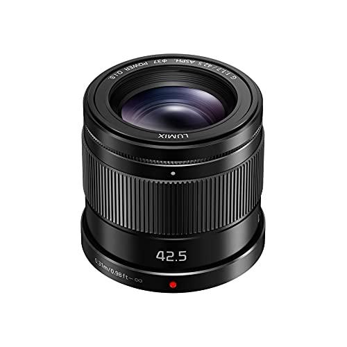 Panasonic Lumix 42,5mm F1.7 | Objectif à focale fixe H-HS043E-K (Grand angle 42,5mm, Grande ouverture F1.7, Stabilisé, equiv. 35mm : 85mm) Noir – Compatible monture Micro 4/3 Panasonic & Olympus