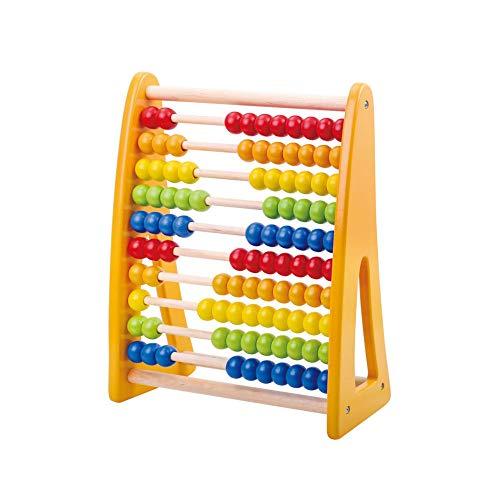 Tooky Toy Boulier en bois - Boulier abaque - Jouet éducatif pour enfant - Apprendre à compter - Jouet en bois - Jouet pour enfant - à partir de 3 ans - 25 x 12 x 32
