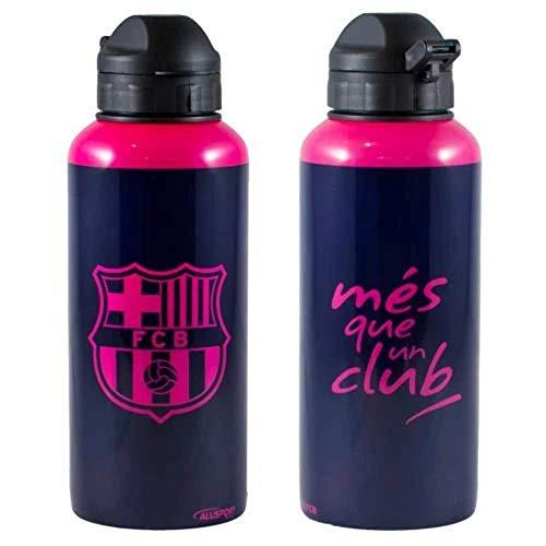 Alusport Bottles FCB Away Modelo II Botella Deportiva de Aluminio, Hombre, Morado y rosa, 0.4 l