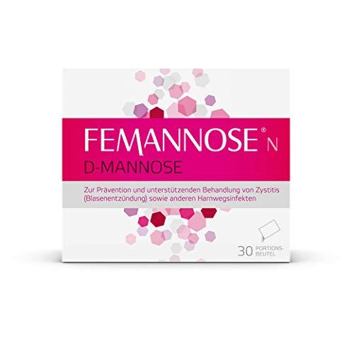 Femannose N – D-Mannose Granulat zur Prävention & unterstützenden Behandlung einer Blasenentzündung bei Frauen – 30 Portionsbeutel