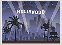Hollywood背景–写真バックドロップ–Great for Studio、ブース、パーティー、写真、ストリーミング、ビジネス使用、5x 7フィート