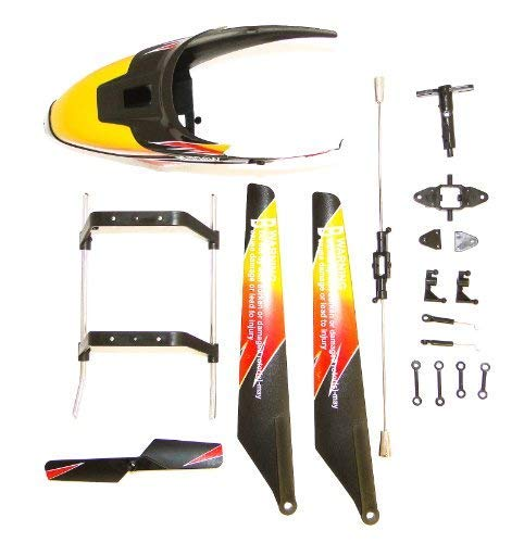 efaso Ricambio Elicottero V913 - 9-Teiliges Crash-Kit - Anche Adatto a: Monstertronic Mt-400, Simulus Gh-720