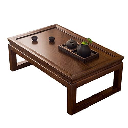 Couchtische Tische Massivem Holz Tatami Japanischer Tee-Tabelle Erkerfenster Tabelle Beistelltisch Fensterbank Kleiner Wohnzimmer (Color : A, Size : 70x45x30cm)