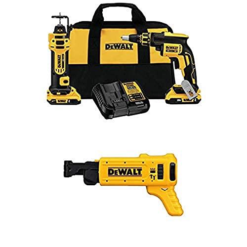 DEWALT DCK263D2 20V MAX XR Li-Ion Cordless Drywall Screwgun and Cut-out Tool Kit w/ DCF6201 20-volt MAX XR Li-Ion Drywall ScrewGun Cordless Collated...