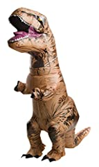 OFFICIALLY LICENSED Jurassic World inflatable Velociraptor costume; look for trademark logo on packaging and labels to help assure you've received an authentic safety-tested item LONG SLEEVE inflatable jumpsuit with zipper closure on back and battery...