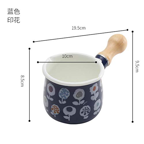 Ltong Anti-aanbak Emaille Melk Pot Pan Praktische Boter Koffiewarmer Kleine Melkpot Keuken Kookpot Noedel Handgemaakt, 3