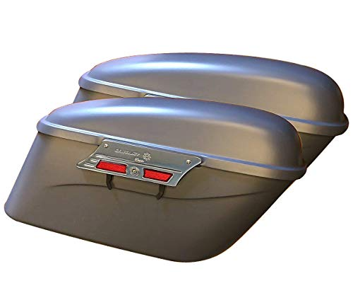 Fantastic Deal! Hard Saddlebags Smooth Primer Fiberglass for Honda Shadow Aero VT750 750