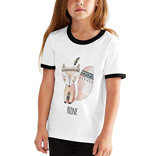 Nine Fox 9th Birthday - Camisetas de manga corta para niños