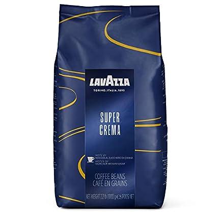 Lavazza Espresso Super Crema, Café de Grano Tostado, 1000 g