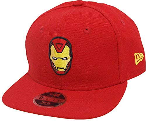 New Era Iron Man 9fifty 950 Scarlet Yellow UV Youth Snapback Cap Kids Kinder Children Limited Edition