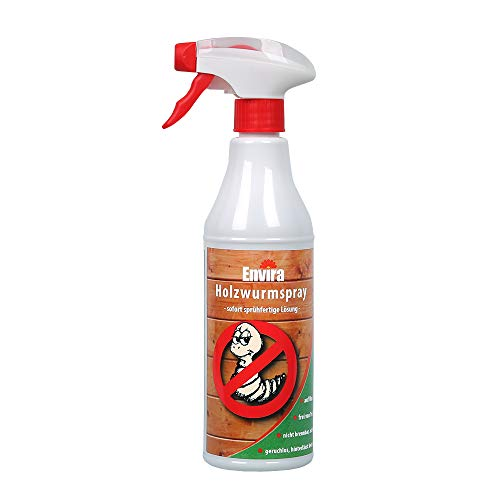 Envira Holzwurm-Spray - Holzwurm Ex Gegen Holzschädigende Insekten Mit Langzeitschutz - Auf Wasserbasis - 500 ml