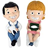 JYKCBP Estatua De Adorno De Clínica De Dentista, Esculturas De Ortodoncia para Niños Y Niñas, Vitrina De Escritorio, Manualidades Creativas De Resina, Regalo para Higienista Dental