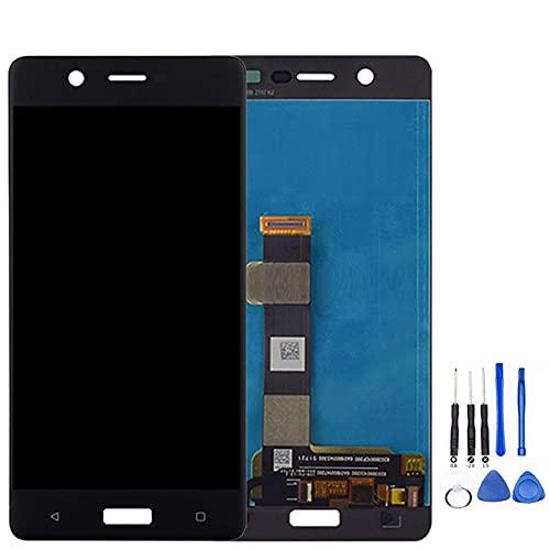 Accessory Kits - Panel de pantalla de teléfono compatible con Nokia 5 TA-1024 TA-1027 TA-1044 TA-1053, pantalla LCD táctil digitalizador de cristal de repuesto (color: negro)
