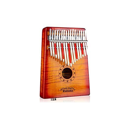 SFFSM Piano de pulgar Kalimba de 17 teclas, puro arce de grano...