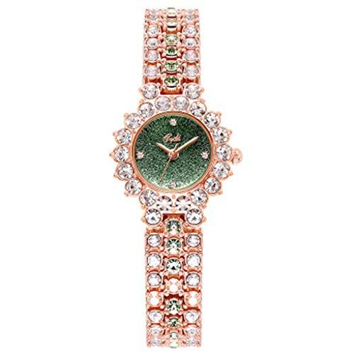 Guarda signore della vigilanza impermeabile temperamento lusso moda orologio al quarzo delle donne (Color : A)