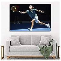 ポスターと版画ギリシャテニススポーツ壁アート壁アート写真キャンバスアート絵画家の装飾50x70cmフレームなし