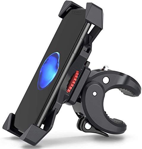 FYLINA Handyhalterung Fahrrad Handyhalterung Motorrad für Smartphone Breite das 5.5-8.5cm 360° Drehbare Halter Verstellbarer fahrrad handyhalter Motorrad Handy Halterung Smartphone Halterunge