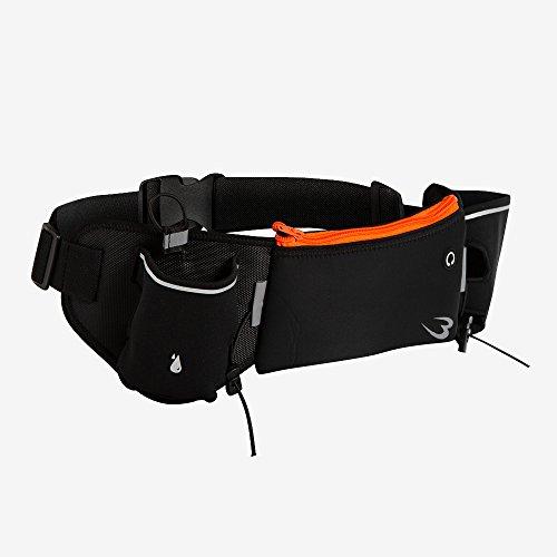 ボディメーカー(BODYMAKER) ハイドレーション ランニングウエストポーチ ブラック×オレンジ BR029BKOR 音楽 アイフォン 自転車 旅行 スマホ スポーツ iphone マラソン トライアスロン トラベル トレーニング バッグ ピンク フィ
