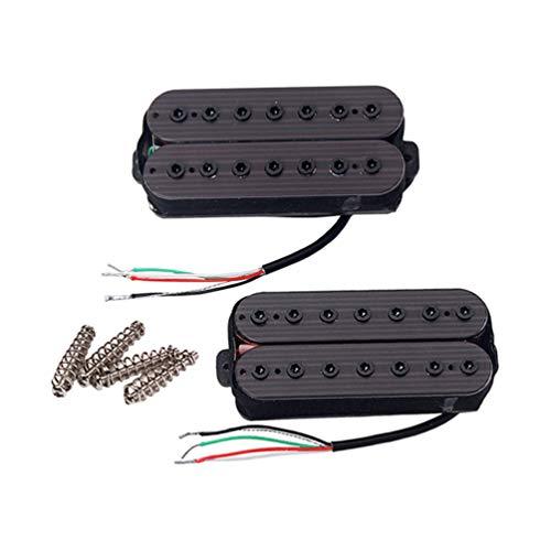 SUPVOX 2pcs 7 micros à cordes micro manche en palissandre pour guitare (noir)