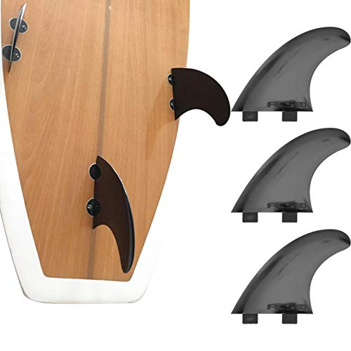 DAUERHAFT Aleta de Tabla de Surf Duradera 3 Piezas/Juego, para Equipo de acompañamiento, para Bote de Goma, para Kayak(Black)