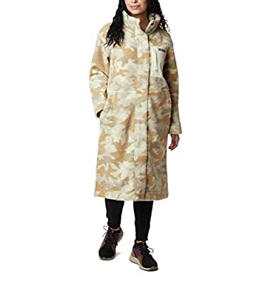 Columbia Women's Panorama Full Length Jacket, Chalk Camo Print, Small