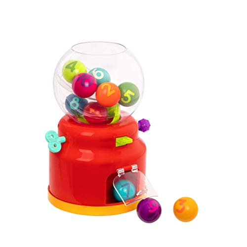 Battat – Ball Dispenser for Kids – Mini Vending Machine Toy – 10 Colorful Number Balls  Numbers amp Colors Gumball Machine  Toddlers  12 Months