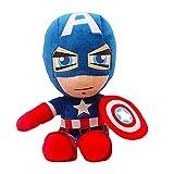 Peluche Infantil Spiderman, 27 cm, Marvel Avengers, Capitán América héroe, Iron Man (Captain America,27cm)