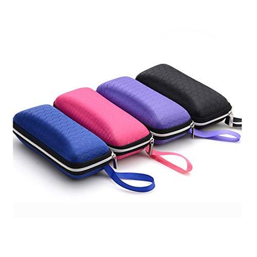 4 Pack Portable Zipper Eyeglasses Case Sunglasses Hard Case Box Protector for Men Women Students