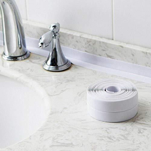 1 Roll 3.2mx22mm Badkamer Douchebak Bad Afdichtstrip Tape PVC Zelfklevende Waterdichte Muursticker voor Badkamer Keuken, wit