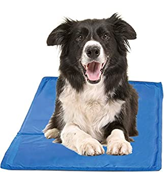Chillz Cooling Mat For Dogs Large Size Cool Pad – Pressure Activated Gel Dog Cooling Mat – No Electricity or Refrigeration Required – Keep Your Pet Cool This Summer – 36 x 20 Inches