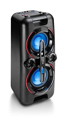 Karcher Bluetooth Party Soundanlage PS 4460 (mit LED Lichtshow, Bass Boost Funktion, Kompaktanlage mit UKW inkl. Mikrofon)