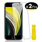NEW'C 2 Stück, PanzerglasFolie Schutzfolie für iPhone SE 2020, Frei von Kratzern Fingabdrücken und Öl, 9H Härte, HD Displayschutzfolie, 0.33mm Ultra-klar, Ultrabeständig