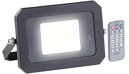 Luminea Terrassen-Beleuchtung: Wetterfester LED-Fluter, Radar-Bewegungssensor, Fernbedienung, 20 W (Hoflampe mit Bewegungsmelder)