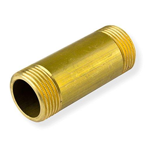 Stabilo-Sanitaer Messing Rohrdoppelnippel 1 1/2 Zoll x 100 mm DN40 Rohrnippel Langnippel Gewindefitting Fitting